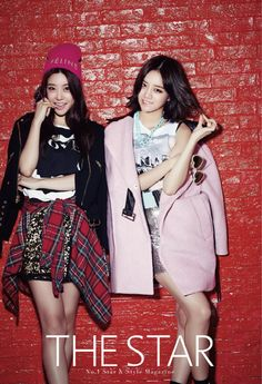 Girl's Day Hye Ri and So Jin - The Star Magazine October Issue '14