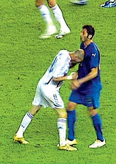 Zidanes headbutt...heard around the world.