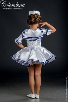 Купить Костюм морячки - белый, костюм морячки, морячка, атлас