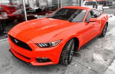 Competition Orange 2015 #Ford #Mustang EcoBoost Fastback