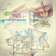 "Architecture - Daily Sketches en Instagram: ""By @architectdrw #arch_more"""