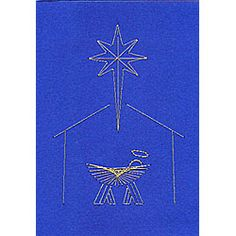 The Nativity scene C4-3 design comes with a numbered diagram, a pricking pattern and step-by-step instructions for the stitching.    It is delivered by download to your computer.    Pattern size 152 x 104 mm (6 x 4 inches).  Price:  $1.62 USA.   £1.00 GBP