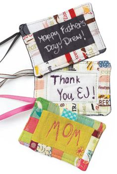 Free Sewing Tutorial - Personalized Gift Tags to Make in a Snap!