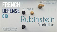 Rubinstein Variation of the French Defense ⎸Chess Openings Fort Knox, Chess, Theory, French, Gingham, French People, French Language, France
