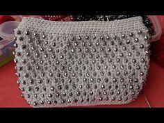 Bead Crochet Patterns, Crochet Motif, Crochet Designs, Crochet Stitches, Crochet Poncho, Handmade Bags, Diy And Crafts, Tote Bag, Beads