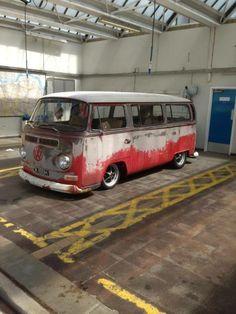 VW low light bay window bus