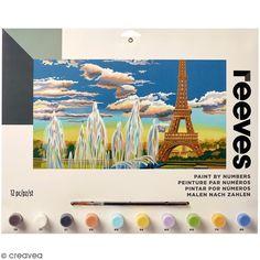 Peinture au numéro Adulte Reeves - Tour Eiffel - 40 x 30 cm - 12 pcs