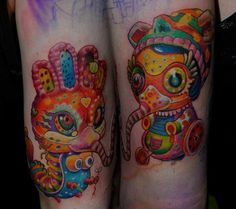 Hungarian tattoo artist Csiga transforms a psychedelic painting by Yoko…