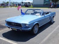 A classic Mustang! Just like the first car to ever travel on the ferry!