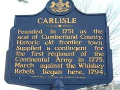 Uncover a rich Pennsylvania history in Carlisle, founded in Just a half an hour outside of Harrisburg, nearly Pennsylvanians call the charming town home. Carlisle Pennsylvania, Pennsylvania History, Continental Army, Keystone State, Cumberland County, College Classes, Pittsburgh Pa, Covered Bridges, Family History