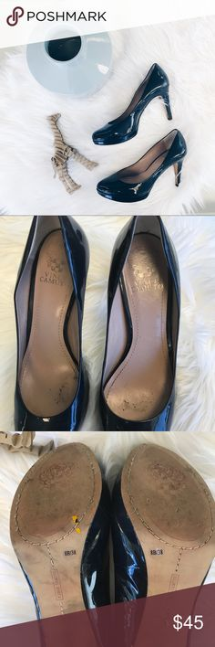Vince Camuto Desi Platform Pumps Vince Camuto heels! Imperfections shown in pics! Worn, but good condition still. Sticker on bottom shows 8B/ 38. I'm a size 8 and these fit me perfectly! Shoes Heels