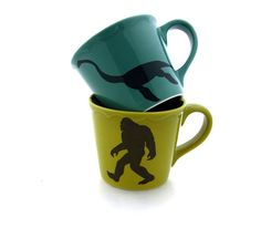 Bigfoot Yeti Monster Lochness Monster Mug Set Great by LennyMud