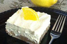 Frozen Lemonade Blondie. Easy, easy, easy recipe that has both sweetness and ZING!