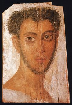 Portrait of the 1st century AD ✋Mummy portraits or Fayum mummy portraits is the modern term given to a type of naturalistic painted portraits on wooden boards dated 50 - 300 CE ✋Roman ArtMore Pins Like This At FOSTERGINGER @ Pinterest✋