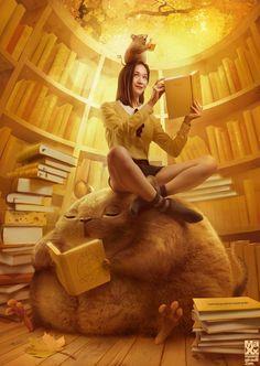 Library Rats by maximegirault.deviantart.com on @deviantART