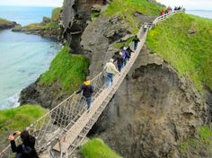 pont en corde, irlande du nord carrick-a-rede rope bridge, Ireland