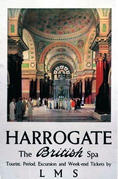 This Harrogate, The british spa Art Print Art Print is created using state of the art, industry leading Digital printers. Harrogate, The british spa Posters Uk, Railway Posters, British Travel, National Railway Museum, Vintage Travel Posters, Illustrations, Day Trip, Retro, A4 Poster