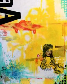 """""""Aa"""" - canvas wall art at Wheatpaste Art Collective"""