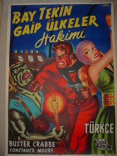 Flash Gordon Turkish movie poster.  Version 2.