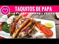 TACOS DORADOS de papa sin freir - Las Recetas de Laura ❤ Recetas de Comida…