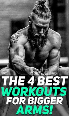 Check out the 4 best workouts for bigger arms! These are probably one of the best arms workouts that you MUST integrate in your workout program! #fitness #fit #fitnessworkout #muscle #gym #workout #exercise #armworkout #arms