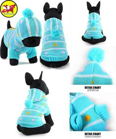 [Visit to Buy] Petcircle New Qualified Pet Dog Clothes Winter Christmas hat Warm dog Sweater for chihuahua Knitwear Puppy Clothing pet products #Advertisement