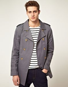 ASOS Grey Trench Coat