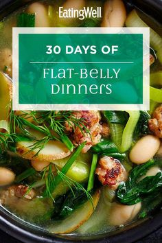 These healthy recipes are loaded with fiber and other ingredients that studies have shown to have special belly-fat-burning benefits such as avocado artichokes whole grains kefir green tea eggs peanuts and chickpeas. Very Low Calorie Foods, Calorie Diet, Healthy Eating Habits, Healthy Diet Plans, Low Fat Diets, No Carb Diets, Real Food Recipes, Diet Recipes, Healthy Recipes