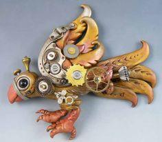 Steampunk Bird, Beth Hemmila of Hint Jewelry