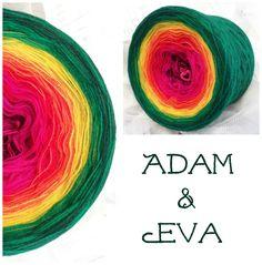 Adam & Eva: Hochbauschacryl 8 Farben: beere fuchsia karminrot orange kanariengelb froschgrün grasgrün dunkelgrün