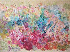 Wildflower Mix Collage Pattern by Laura Heine