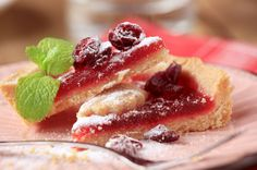 Cranberry Tart - A sweet idea to use up leftover cranberry sauce!