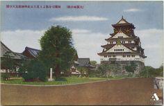 (大阪城公園)師団司令部より見たる紀州御殿及天守閣
