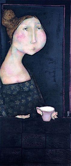 Un café en attendant. Journal D'art, Art Visage, Newspaper Art, Charcoal Art, Cartoon Painting, Blue Horse, Art Et Illustration, Inspiration Art, Art Moderne