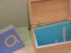 DIY sand-paper letters