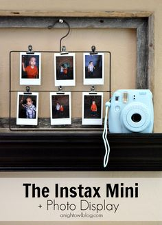 I have the blue instax. The Instax Mini + Photo Display Instax Mini Ideas, Instax Mini 8, Fujifilm Instax Mini, Instax 210, Instant Camera Reviews, Instant Film Camera, Cute Camera, Mini Camera, Polaroid Pictures