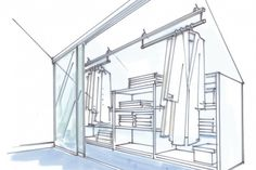 dressglider - Lösung Dachschräge verschiebbare Kleiderstange