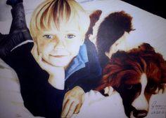 Menino com cachorro feito por Geovanna by MicrocampABC on DeviantArt