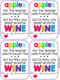 Teacher Appreciation Labels