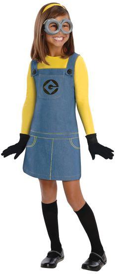 Despicable Me Minion Girl Kids Costume Movie Costumes - Mr. Costumes