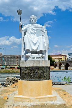 Skopje, Macedonia - One of many giant statues in the town square
