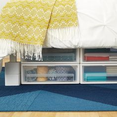 Under Bed Drawer & 29 Sneaky DIY Small Space Storage and Organization Ideas (on a ...
