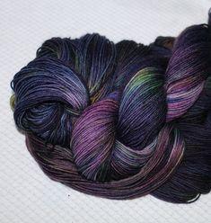 Superwash Merino  sock yarn4-ply   Color:Black by WoolSilkLace