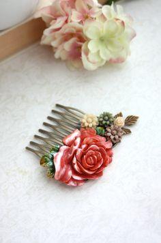 Wedding Hair Comb. Bridal Hair Comb Bridesmaid Gift.