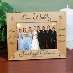Personalized Engraved Our Wedding Wood Picture Frame - iMallShoppe.com / Treasured Memories, Unltd.