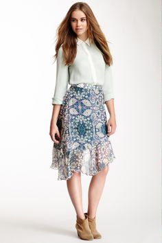 Summer is the perfect time for boots and floral skirts!