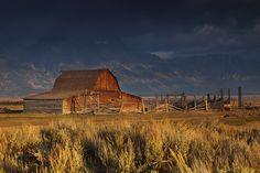 Grand tetons, national park, tetons, wyoming, wy, barn, mormon row, storm, clouds, mountains, , photo