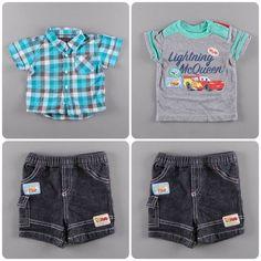 Camisa de cuadros 3,20€   Camiseta Cars 2,90€   Pantalón vaquero corto 3,75€ http://www.quiquilo.es/36-6-meses