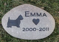 Pitbull Pet Memorial Stone Memorial Gift 9-10 Inch Riverstone All Dog Breeds Available