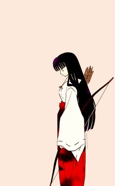 kikyo from Inuyasha Inuyasha And Kikyo, Inuyasha Love, Chica Anime Manga, All Anime, Mai Hime, Miroku, Love Is Gone, Animation, Manga Comics